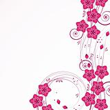 Graceful floral background, vector.