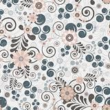 Floral seamless background of elegant colors.