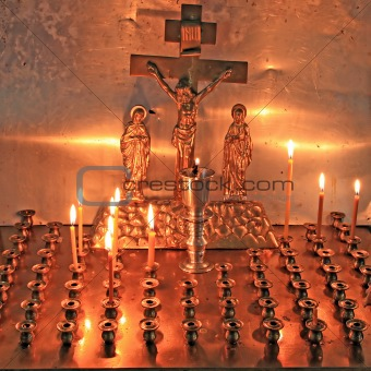 candles in christian church