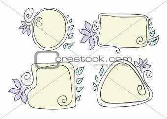 four-color-flower-frames