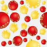 seamless background with balls