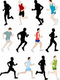 marathon	runners