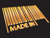 Barcode MADE IN