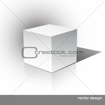 Cube on a white background.