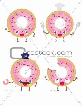 4 Cute Donuts