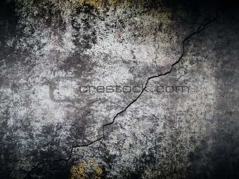 Cement wall with crack