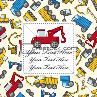 cartoon truck card