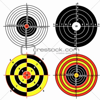 Set targets for practical pistol shooting