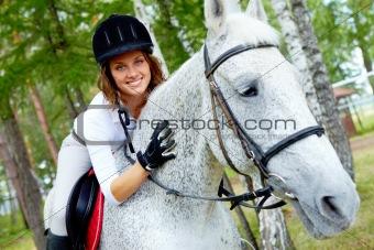 Female on horse