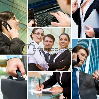 Business people and technology