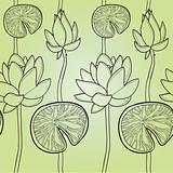 Lotus flower, seamless texture