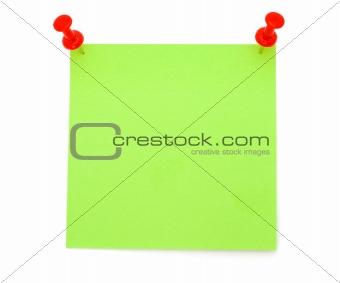 Blank Green Post-it Note