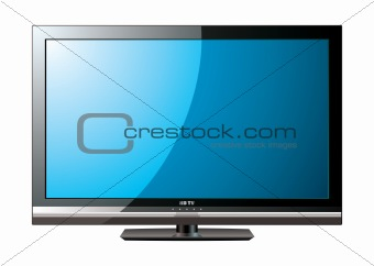 Modern LCD flat blue screen