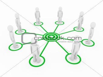 3d men connection