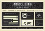 Hotel website template design vector