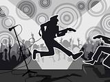 Rock concert b&w