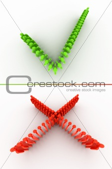Tick and cross