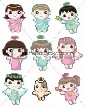 cartoon Angel icon set