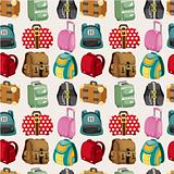 cartoon bag set seamless pattern