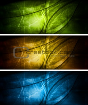 Bright textural banners collection