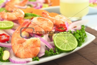 Peruvian Ceviche with King Prawn