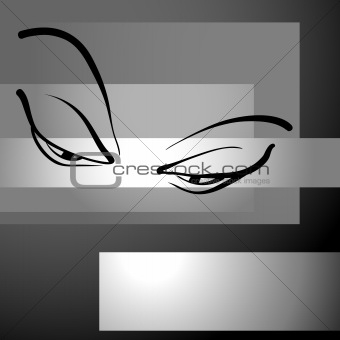 abstract background with eyes