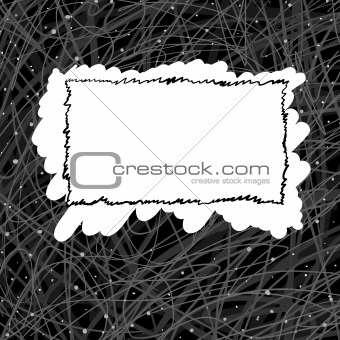 abstract background with frame in middle