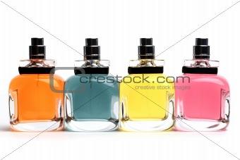 Four perfume bottles