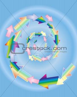 arrow spiral