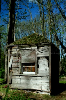 Old abandoned hut