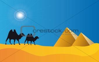 egypt pyramids and blue sky