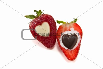 One and a half strawberry