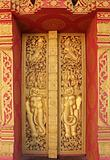 Buddhist temple door