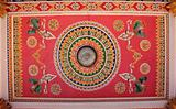 Decorated ceiling of temple