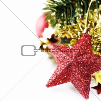 Bright christmas composition with stars