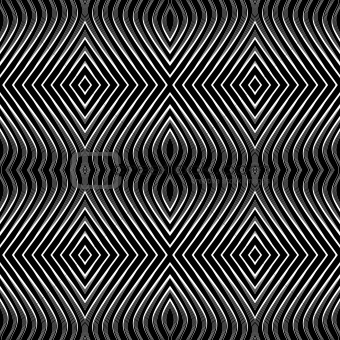 Seamless geometric pattern. Op art.