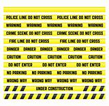 Warning And Police Line Tape