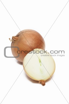 Sliced White Onions Isolated