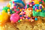 Colorful Sweet Candy Balls on Turron