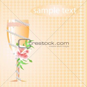 champagne with flower