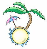 umbrella and palm