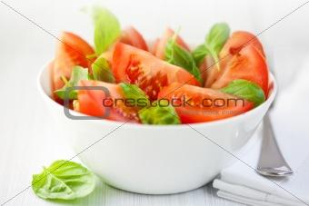 Tomato salad with fresh basil