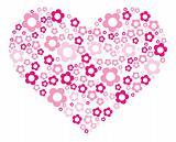 Pink-flower-heart