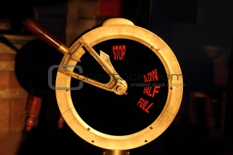 ancient boat brass power control