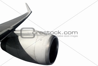 airplane wing aircraft turbine flying isolated