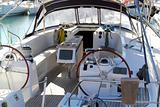 double wheel sailboat stern deck area moored