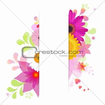 Flower Background With Gerbers