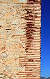 bricks corner detail in masonry wall ancient