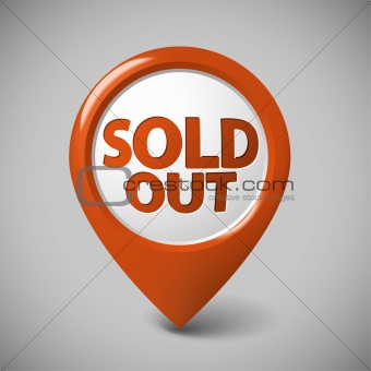 Round 3D pointer for a sold out item