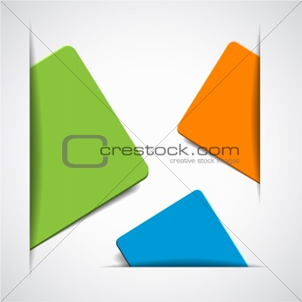vector empty colorful paper cards